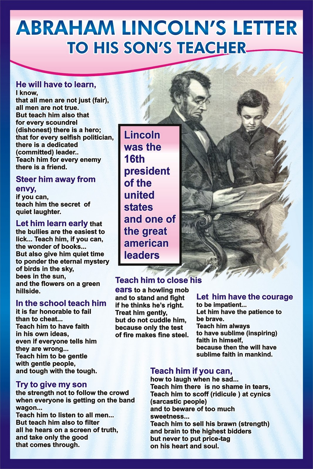 Abraham Lincoln's Letter to his Son's Teacher | Haseeb Akmal Blog